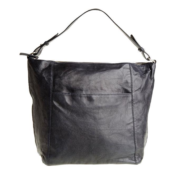Kožená kabelka v Hobo štýle bata, modrá, 964-9192 - 26