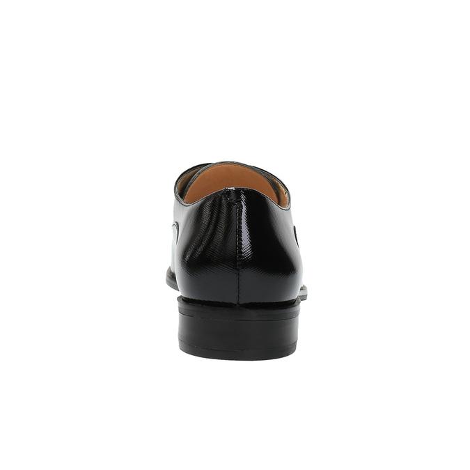 Dámske kožené poltopánky bata, čierna, 528-6631 - 17