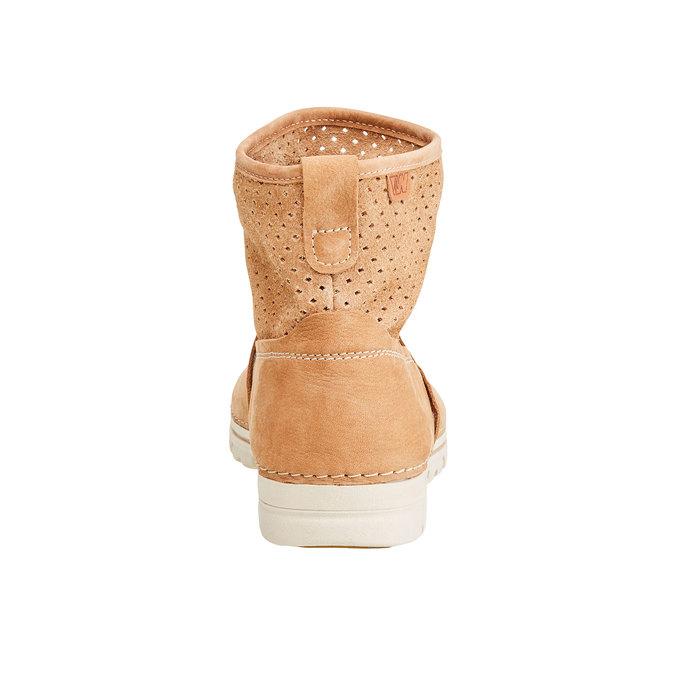 Kožené členkové topánky weinbrenner, hnedá, 596-4121 - 17