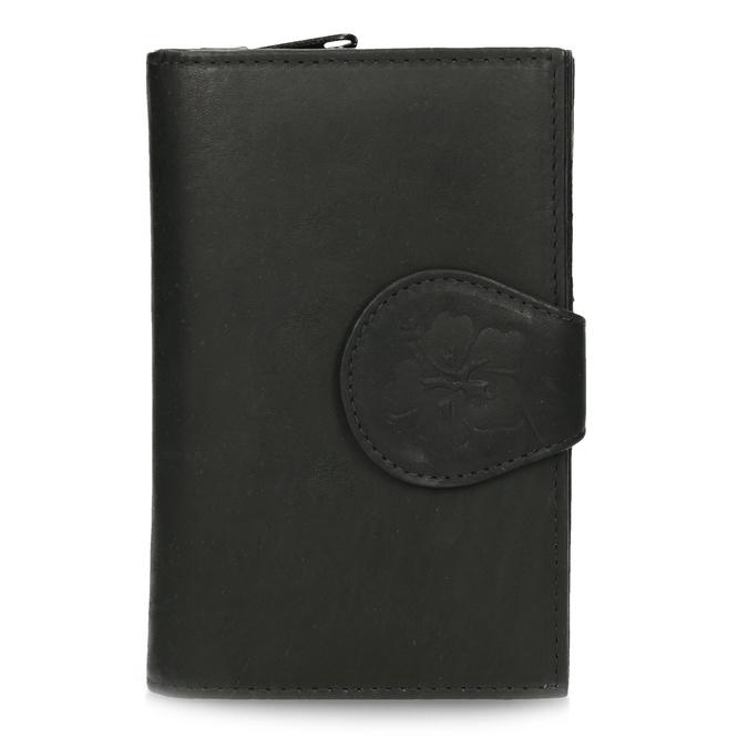 Dámska kožená peňaženka bata, čierna, 944-6155 - 26