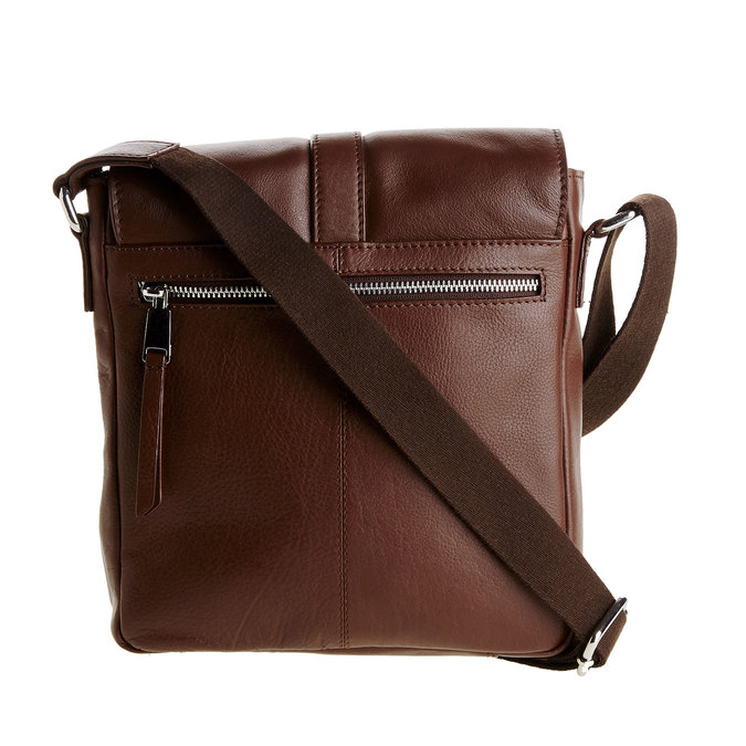 Pánska kožená taška cez telo bata, hnedá, 964-4181 - 26
