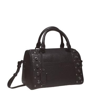 Dámská kabelka s kovovými cvočkami bata, čierna, 961-6640 - 13