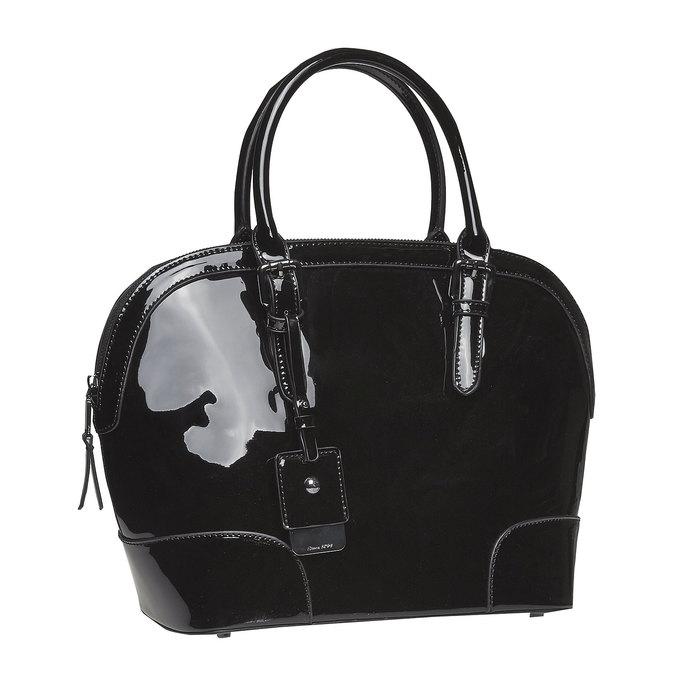 Lakovaná dámska kabelka bata, čierna, 961-6628 - 13