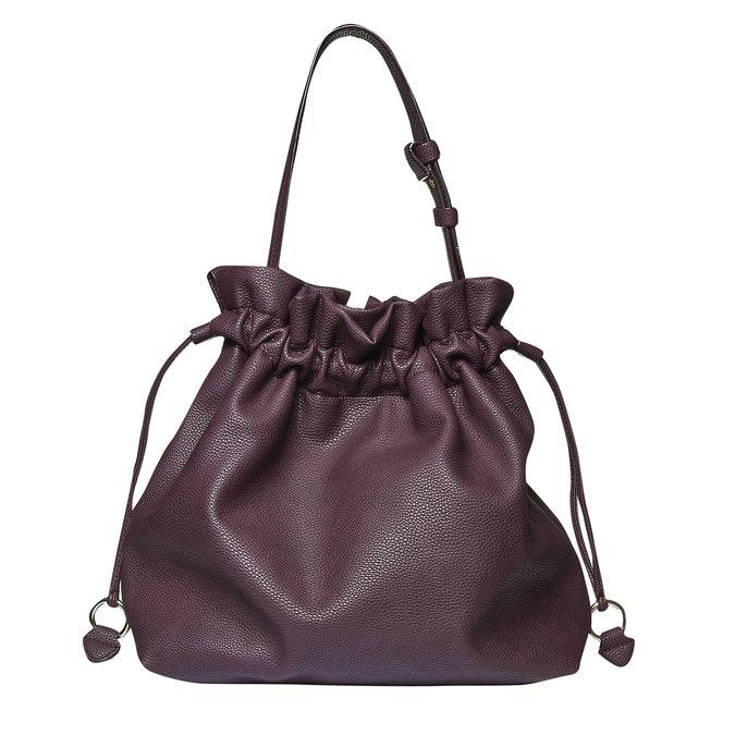 Dámska kabelka v Bucket Bag štýle bata, fialová, 961-5369 - 26