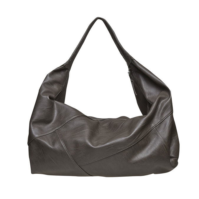 Dámská kabelka s kovovými detailami bata, šedá, 961-2231 - 26