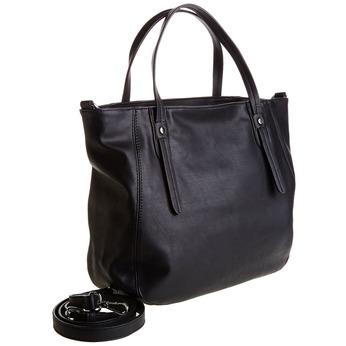 Čierna kabelka s odnímateľným popruhom bata, čierna, 961-6779 - 13