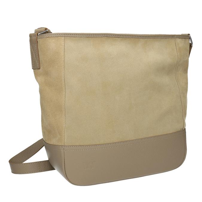 Kožená kabelka s nastaviteľným popruhom weinbrenner, béžová, 963-8190 - 13