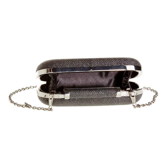 Listová kabelka v štýle Miniaudière bata, čierna, 969-6351 - 15