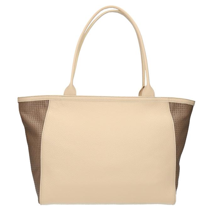 Kožená shopper kabelka bata, béžová, 964-3191 - 19
