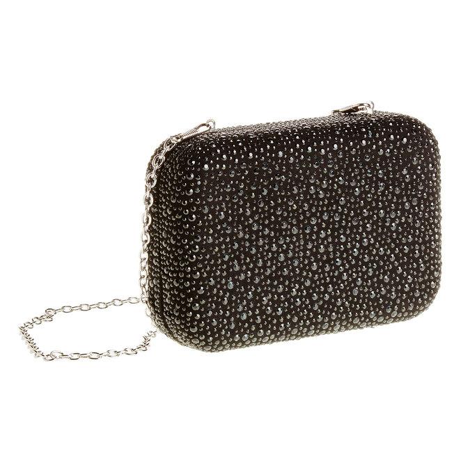 Listová kabelka v štýle Miniaudière bata, čierna, 969-6350 - 13