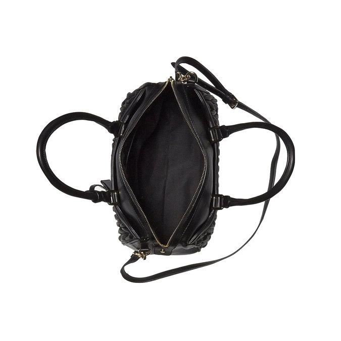 Kabelka v štýle Bowling bata, čierna, 961-6318 - 15