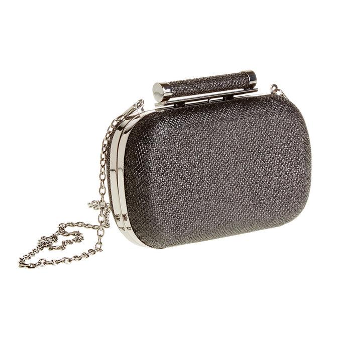 Listová kabelka v štýle Miniaudière bata, čierna, 969-6351 - 13