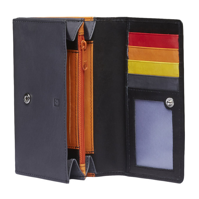 Dámska kožená peňaženka bata, čierna, 944-6156 - 15