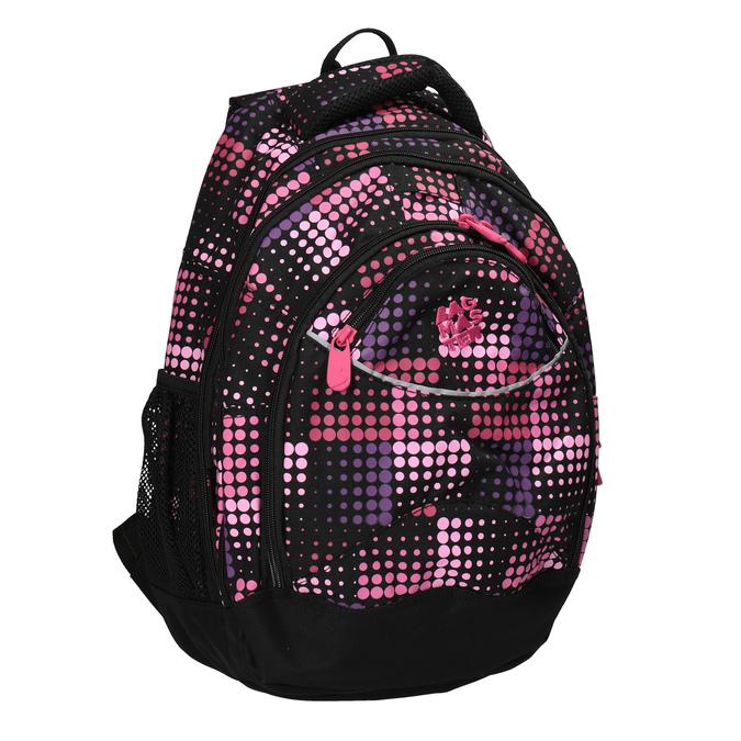 Dievčenský školský batoh s bodkami bagmaster, ružová, 969-5601 - 13