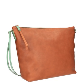 Kožená Crossbody kabelka weinbrenner, hnedá, 964-3201 - 13