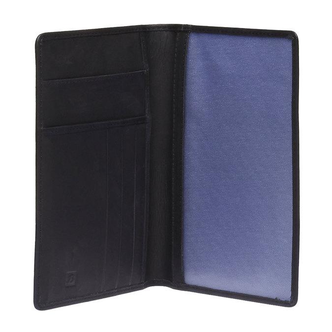 Kožené púzdro na karty bata, čierna, 944-6159 - 15