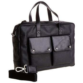 Pánska taška s výraznými vreckami bata, čierna, 969-6314 - 13