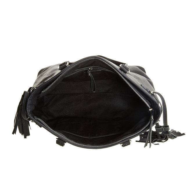 Dámska kabelka so strapcami bata, čierna, 961-6762 - 15