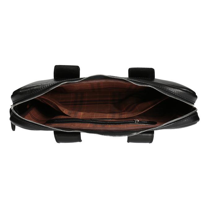 Pánska kožená brašna bata, čierna, 964-6202 - 15