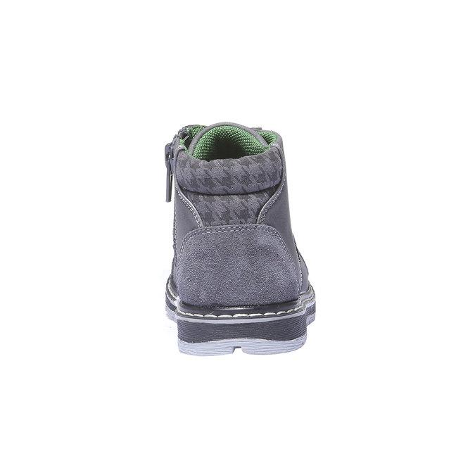 Kožené členkové topánky mini-b, šedá, 211-2138 - 17
