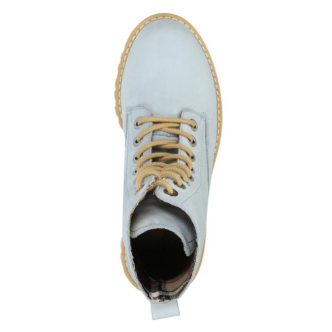 Kožená členková obuv s priehladnou podrážkou weinbrenner, modrá, 596-9639 - 19