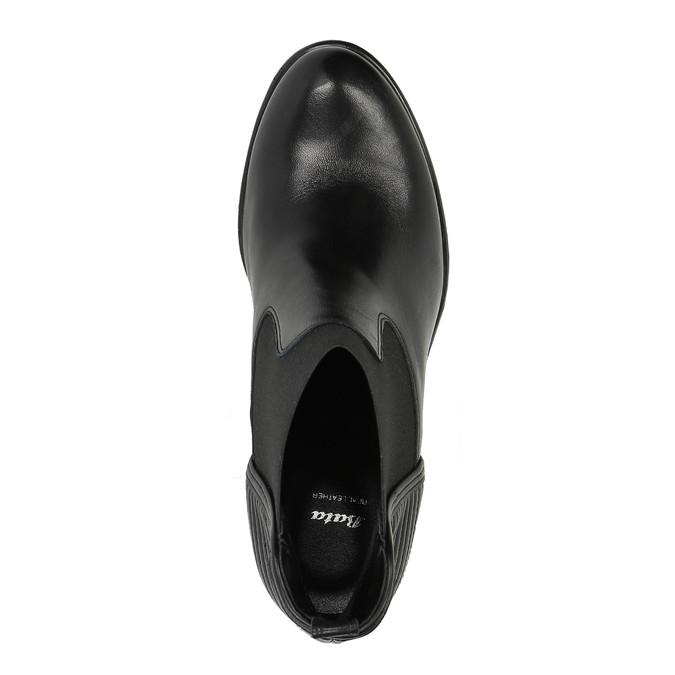 Dámska členková obuv s prešívaním bata, čierna, 694-6636 - 19