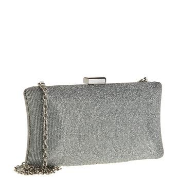 Listová kabelka v štýle Miniaudière bata, šedá, 969-2237 - 13