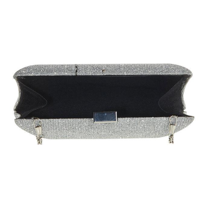 Listová kabelka v štýle Miniaudière bata, šedá, 969-2237 - 15