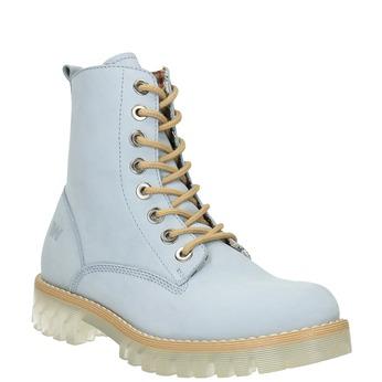 Kožená členková obuv s priehladnou podrážkou weinbrenner, modrá, 596-9639 - 13