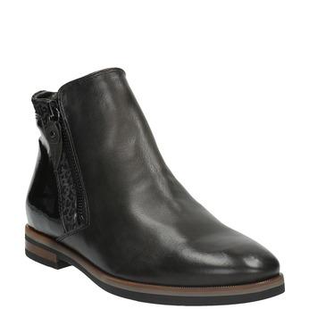 Kožená členková obuv so zipsami bata, čierna, 596-6605 - 13