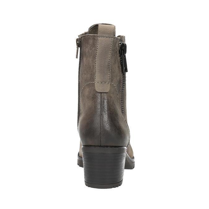 Dámska členková obuv bata, šedá, 696-2604 - 17