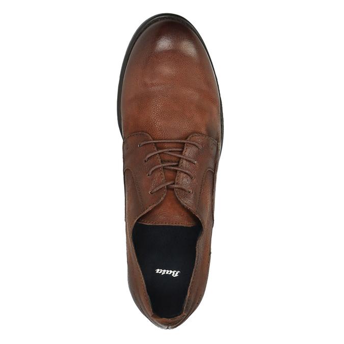 Pánske kožené poltopánky v ležérnom dizajne bata, hnedá, 826-4732 - 19