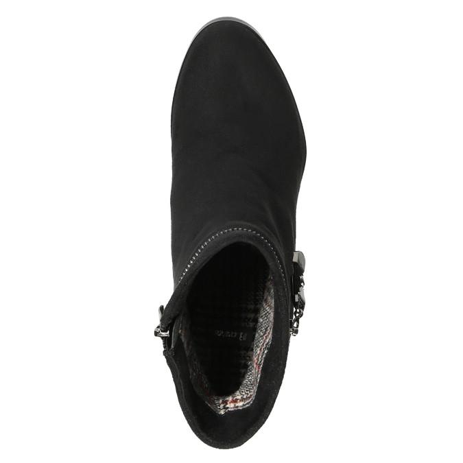 Dámska členková obuv na klínovom podpätku bata, čierna, 799-6631 - 19