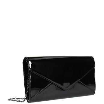 Čierna dámska listová kabelka v lakovanej úprave bata, čierna, 961-6624 - 13