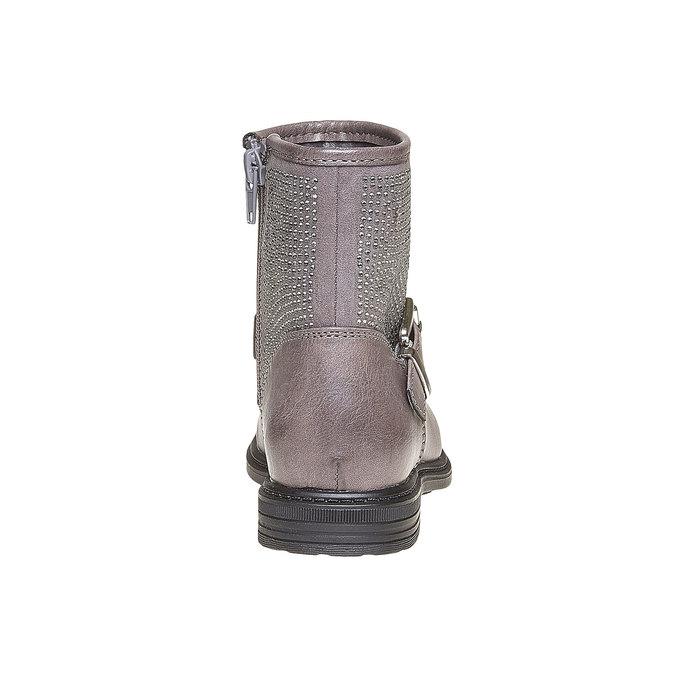 Detská členková obuv s kamienkami mini-b, šedá, 391-2249 - 17