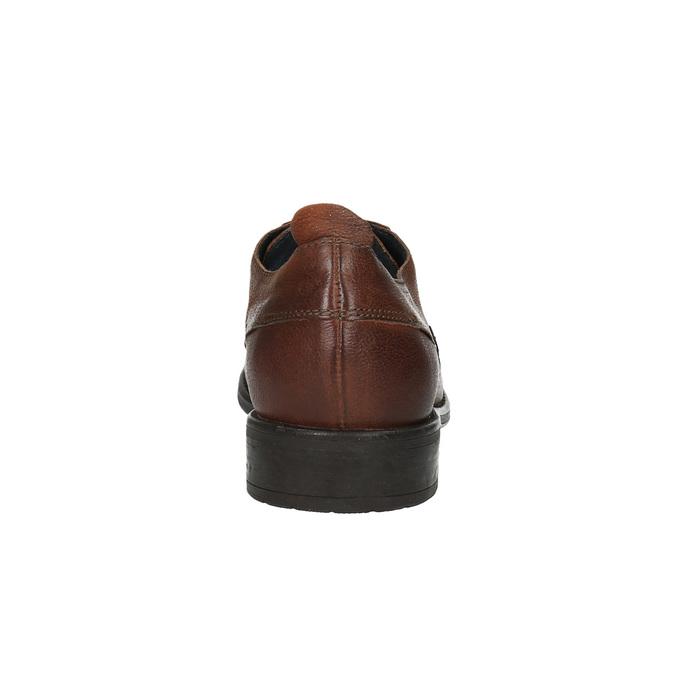 Pánske kožené poltopánky v ležérnom dizajne bata, hnedá, 826-4732 - 17