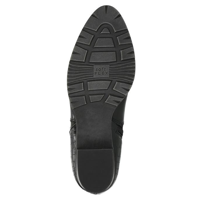 Dámska členková obuv šírky H bata, čierna, 696-6616 - 26