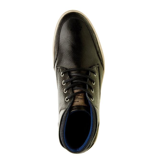 Kožené tenisky k členkom bata, čierna, 844-6620 - 19