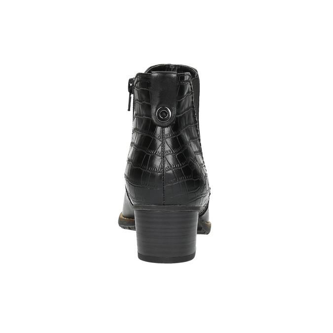 Dámska členková obuv šírky H bata, čierna, 696-6616 - 17