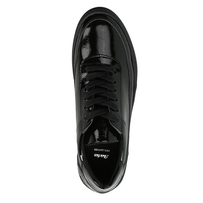 Dámske lakované tenisky bata, čierna, 528-6632 - 19
