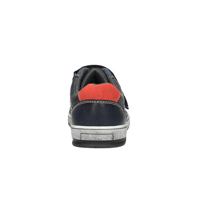 Modré detské tenisky na suchý zips mini-b, modrá, 411-9601 - 17