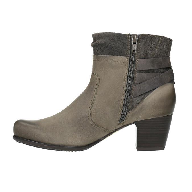 Dámska členková obuv bata, šedá, 696-2617 - 26