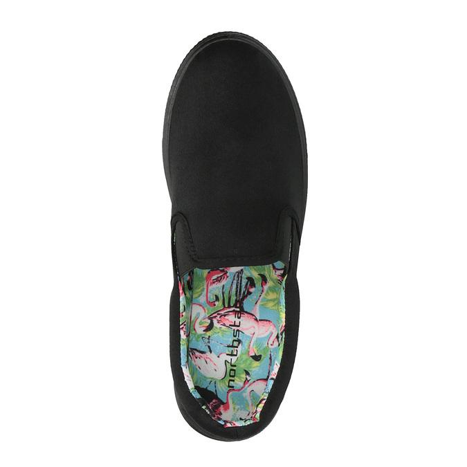 Čierne Slip-on na širokej podrážke bata, čierna, 529-6631 - 19