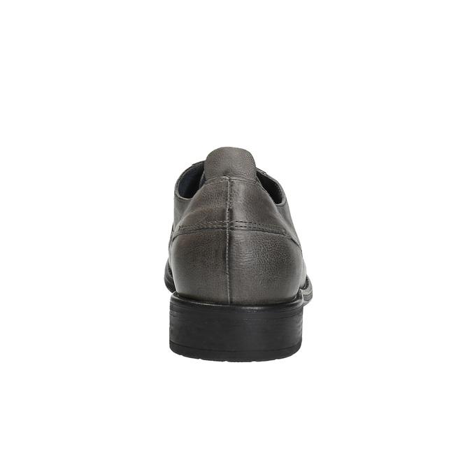 Pánske kožené poltopánky v ležérnom dizajne bata, šedá, 826-2732 - 17