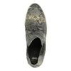 Kožená členková obuv na širokej podrážke bata, šedá, 596-2626 - 19