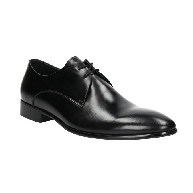 Čierne kožené poltopánky bata, čierna, 826-6648 - 13