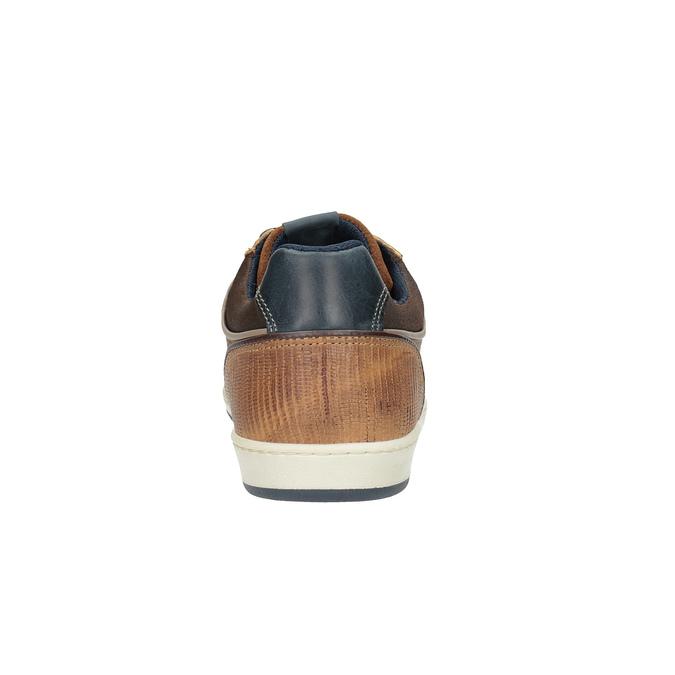 Ležérne kožené tenisky bata, hnedá, 844-4622 - 17