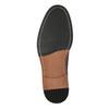 Vínové kožené poltopánky bata, červená, 826-5645 - 26