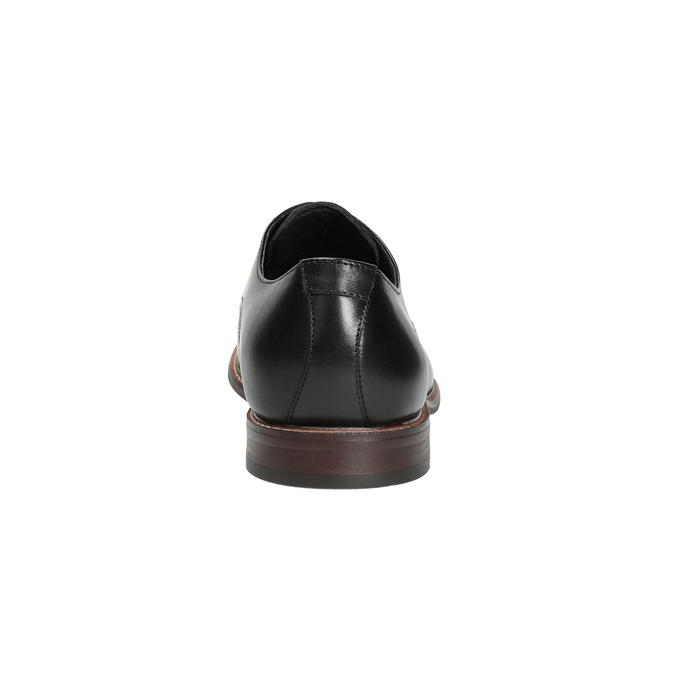 Čierne kožené poltopánky s výrazným obšitím bata, čierna, 824-6684 - 17