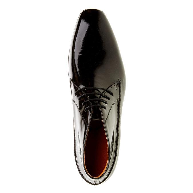 Členkové poltopánky z lakovanej kože bata, čierna, 898-6797 - 19